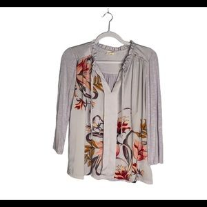 Anthropologie Meadow Rue Lilac Floral Shirt